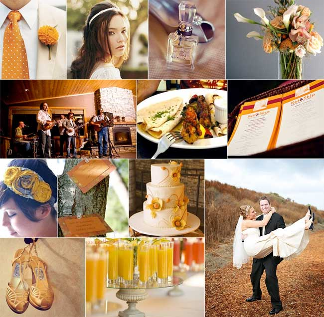 Rustic Fall Wedding Board