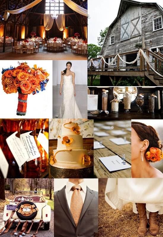 Rustic Chic Barn Wedding Inspiration Board
