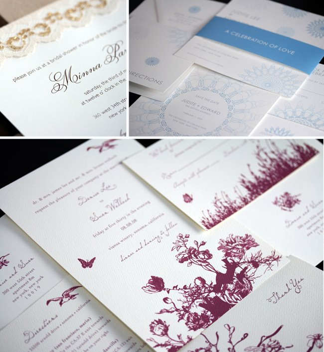 Custom wedding invitations from minna designs stopboris Gallery