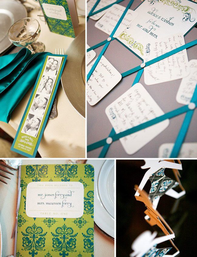 teal paper goods