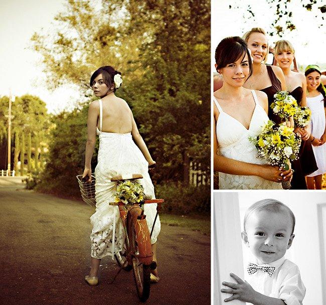 bride on bike