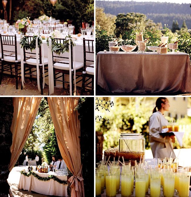 How To Throw A Backyard Wedding The Food Table Decor