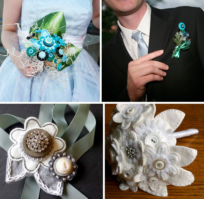 buttons for your wedding bouquet green wedding shoes weddings