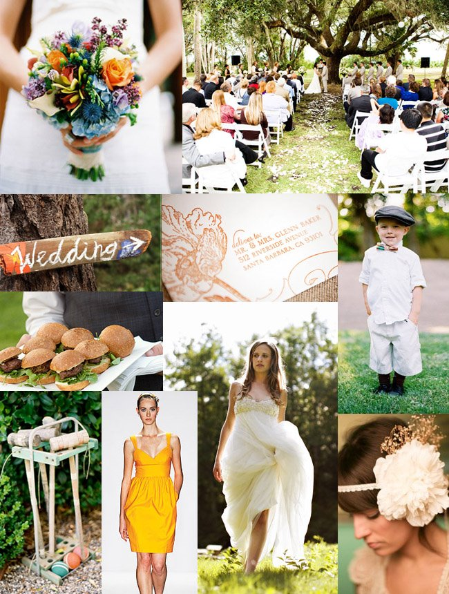 backyard wedding mood board