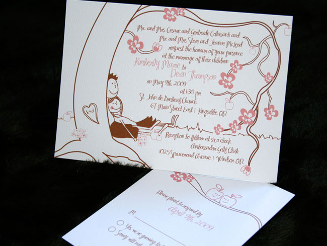 tear drop invitations