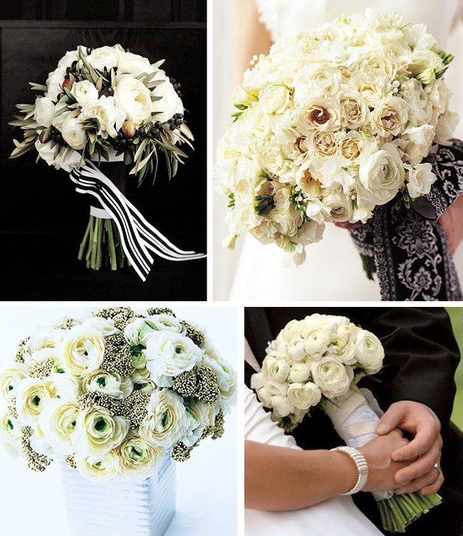 Wedding Flower Bouquets Designs : I heart ranunculus for a wedding green shoes