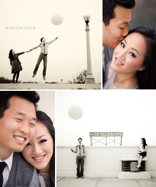 pink balloon engagement