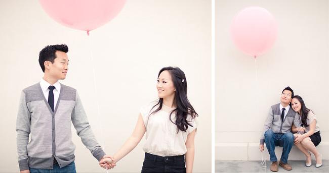 pink balloon engagement