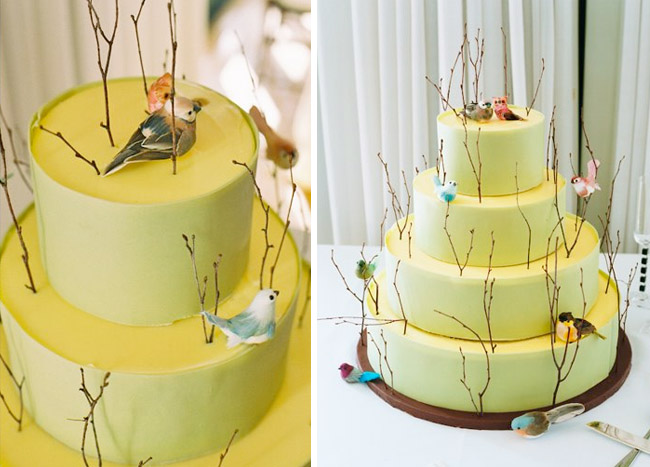Sweet bird wedding cakes Green Wedding Shoes Weddings ...