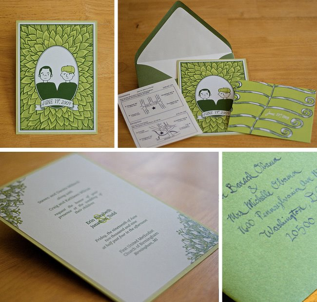 illustrative wedding invitations