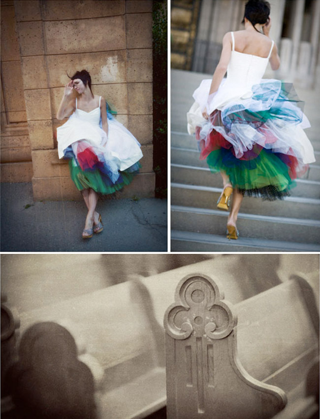 colorful tulle under dress