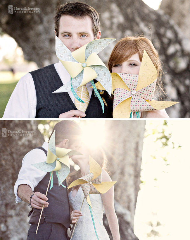 wedding couple pinwheels