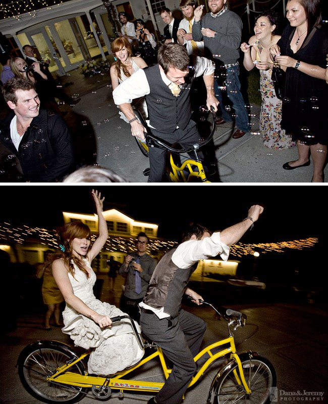wedding exit bike