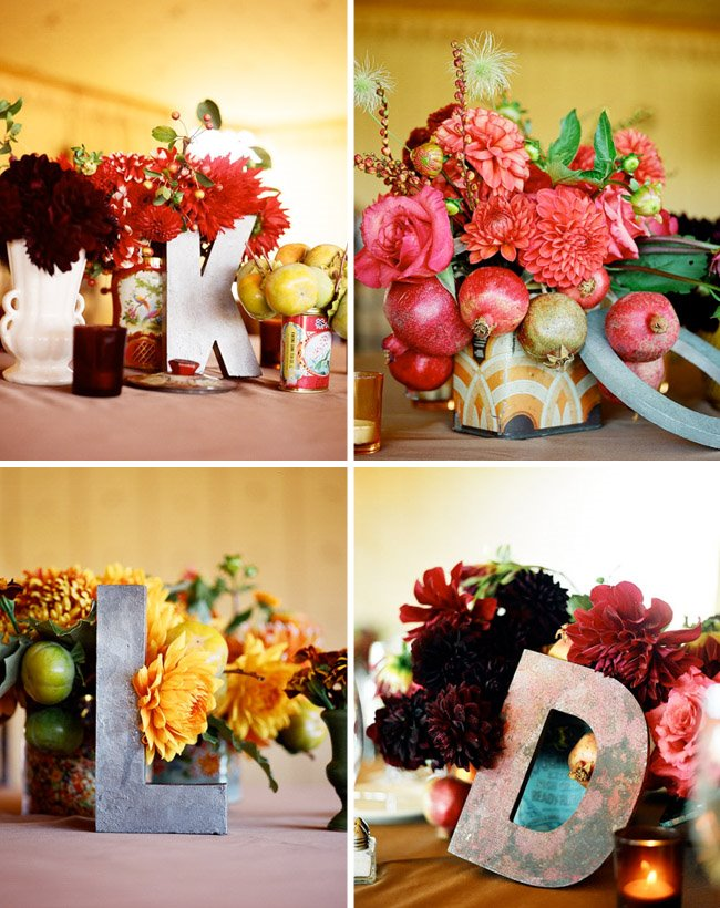 letter table decor
