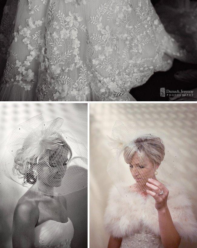 bride in elegant dress
