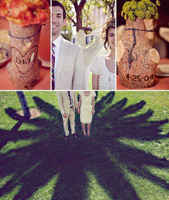 wood tree vases