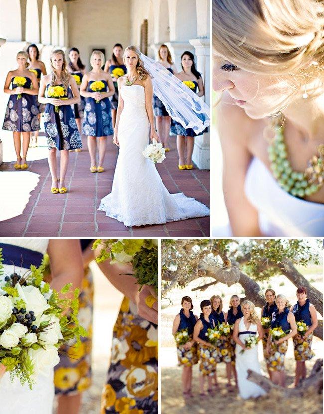 matching bridesmaids