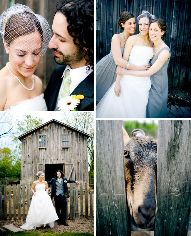farm bride and groom