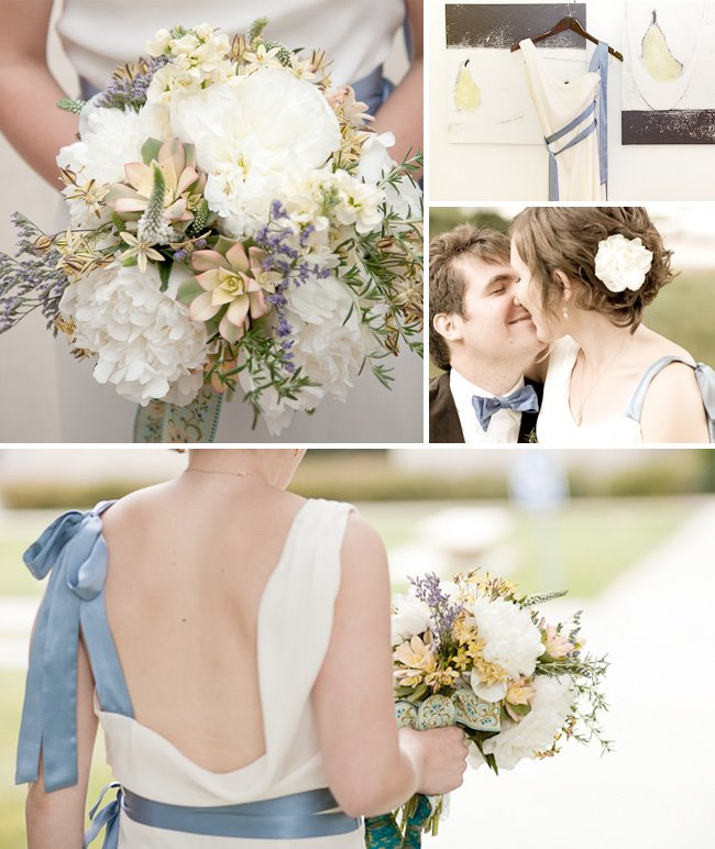 blue and white florals