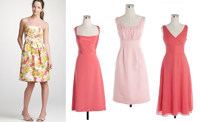 Bridesmaid dresses by color pink