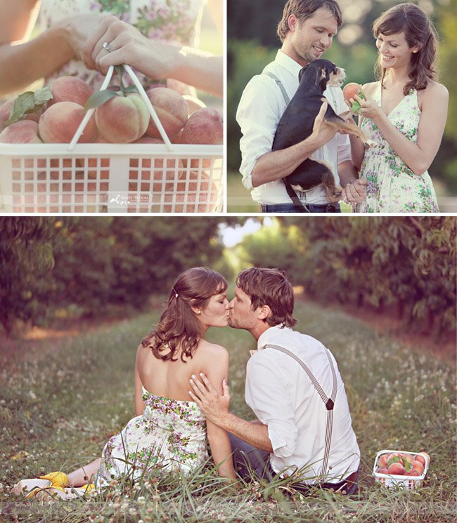 peach orchard engagement