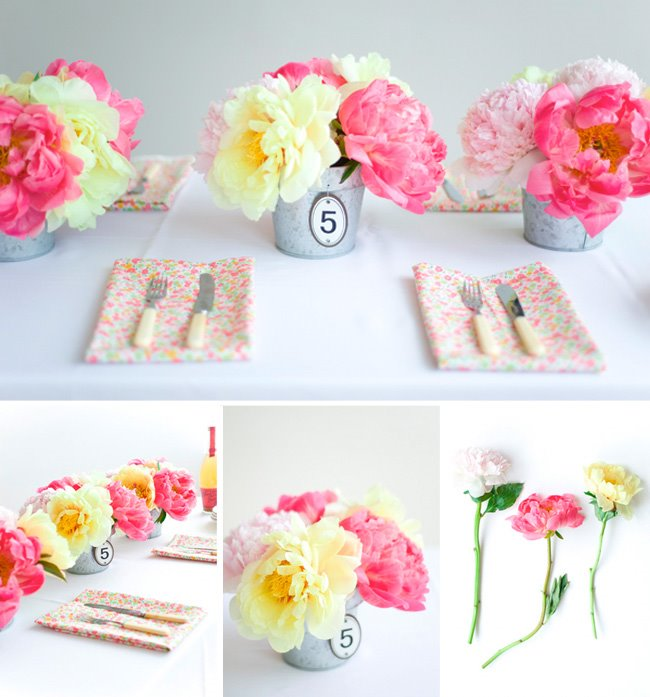 peonies used in weddings