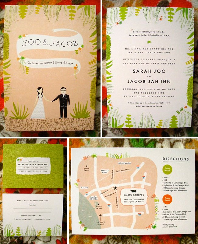 nature inspired wedding invitation