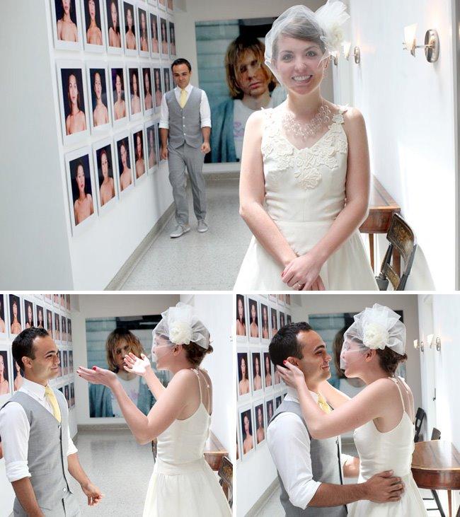 first look in the hallway, kurt cobain print