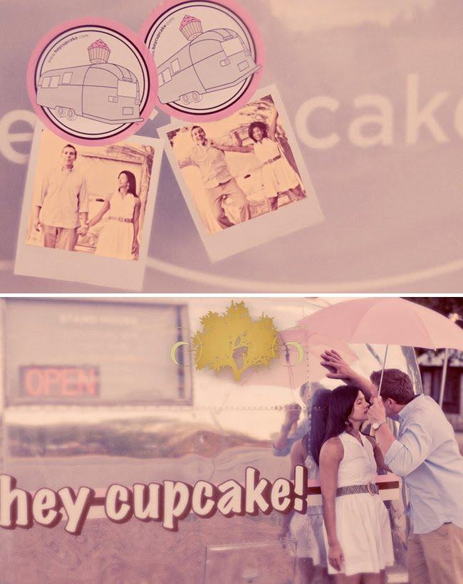 cupcake engagement photos