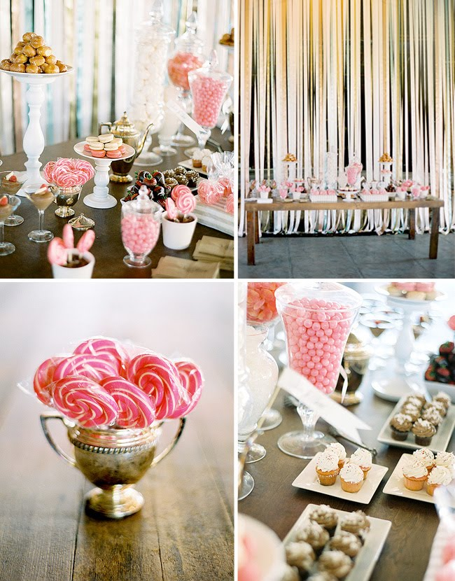ribbon wall wedding