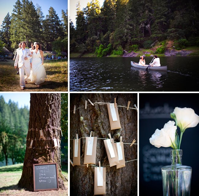 lake canoe wedding