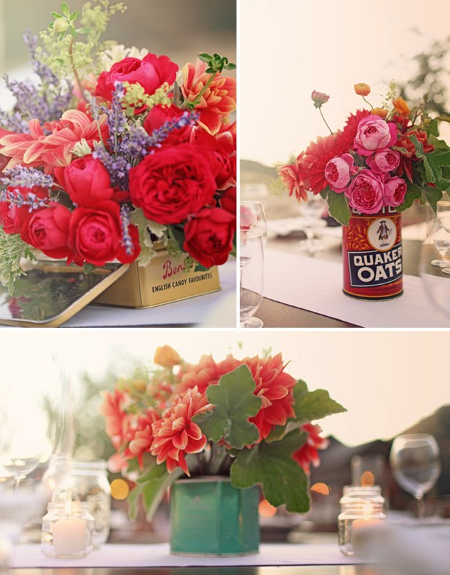 old can flower centerpieces