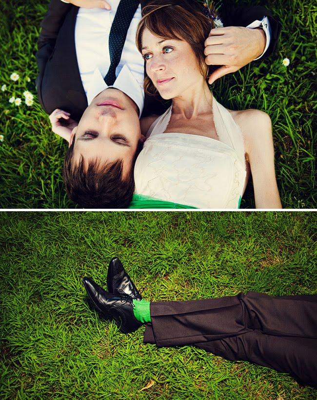 green groom socks