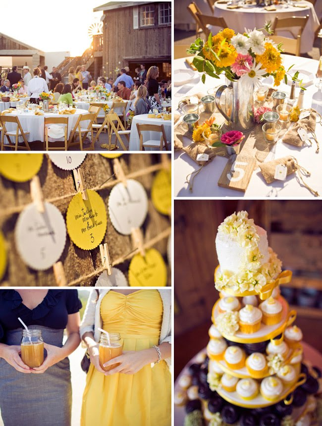 yellow rustic wedding