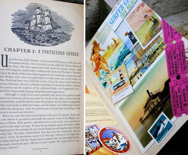 nautical adventure wedding invitation