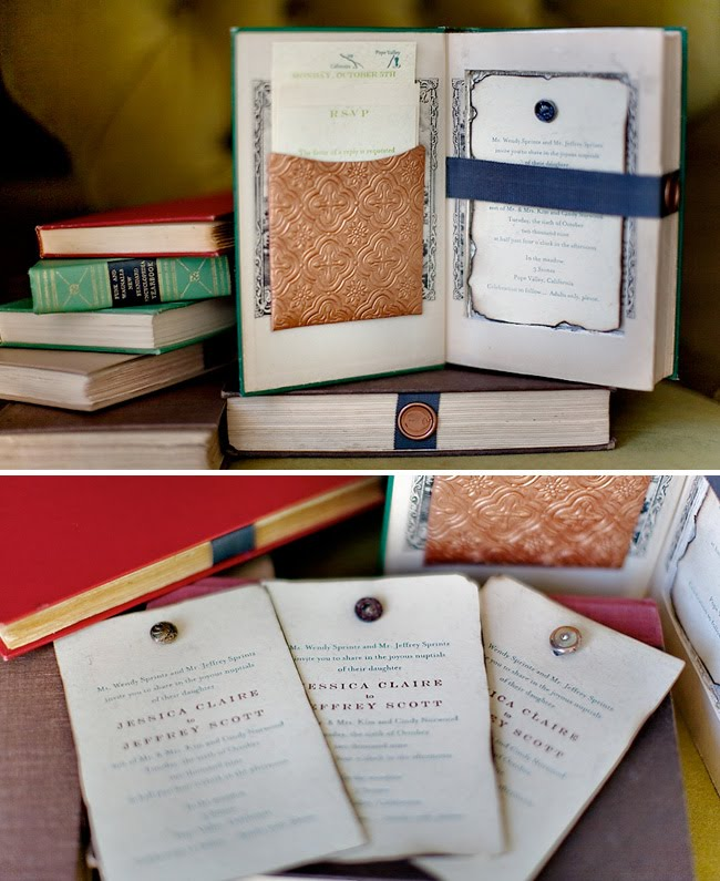 vintage books as wedding invitations green wedding shoes