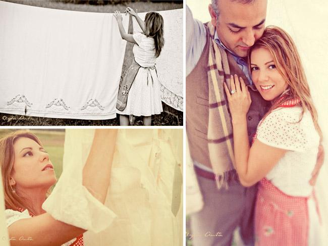 laundry engagement session