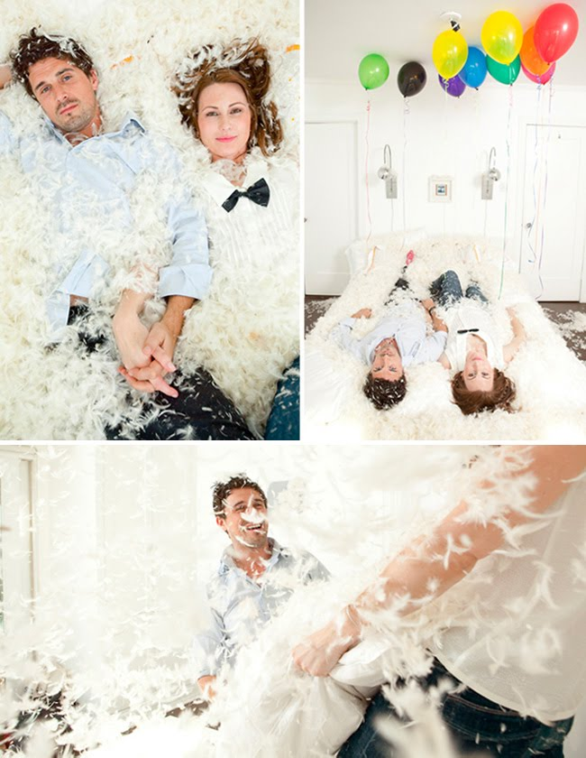 pillow fight engagement