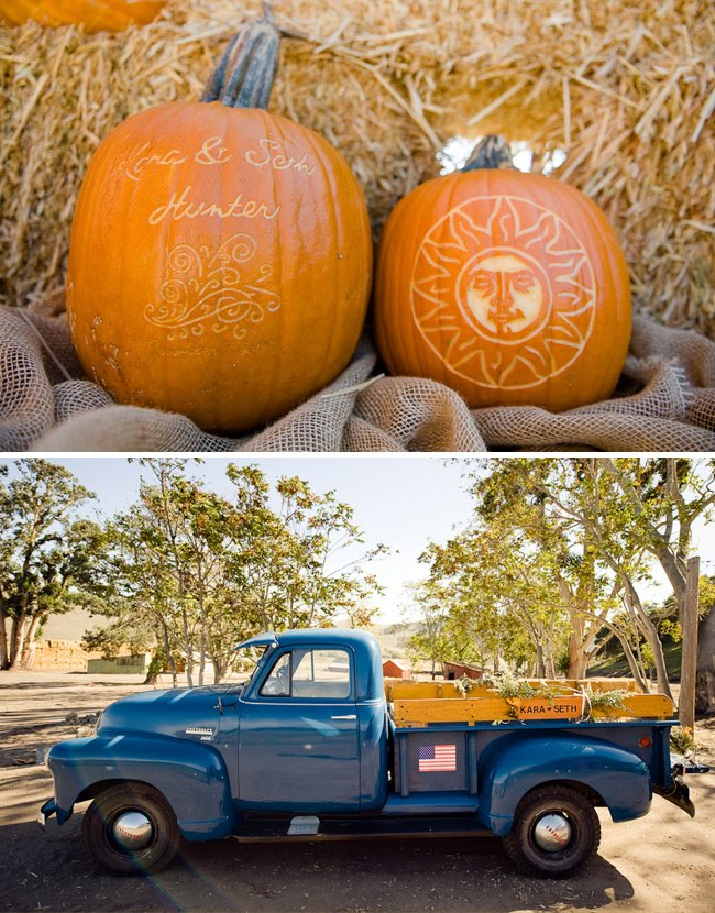 halloween pumpking wedding