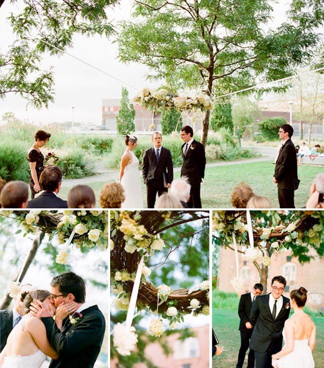 creative ceremony backdrop
