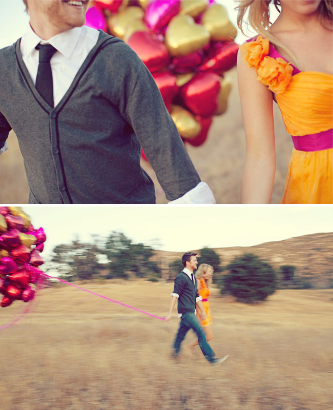 engagement with balloons