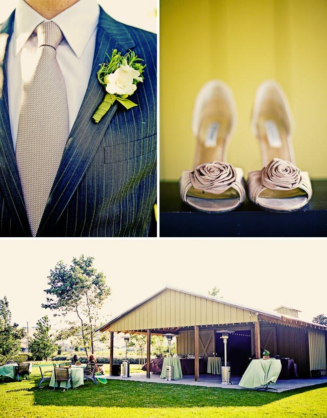 rosette bridal heels