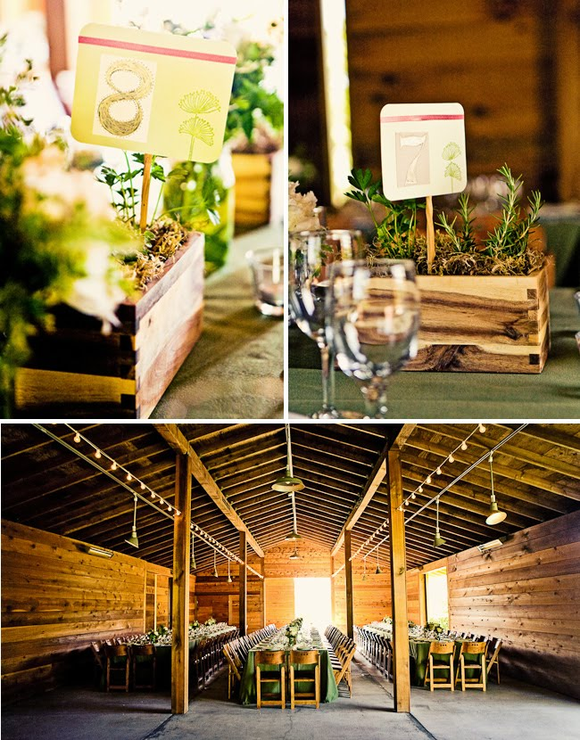 wooden box centerpieces