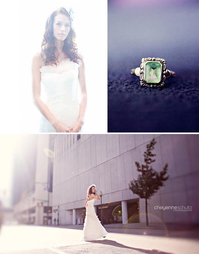 green wedding ring
