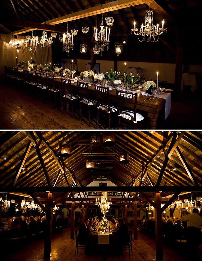 romantic barn reception