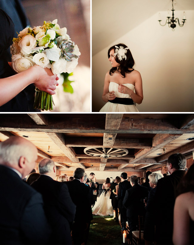 wedding in a barn