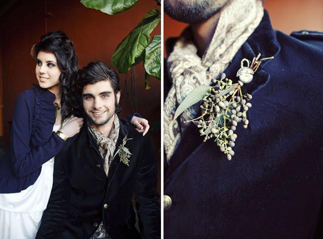steampunk wedding groom