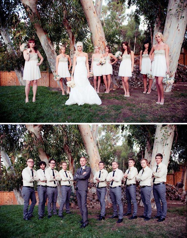 vintage bridal party, vintage bridesmaids, vintage groomsmen