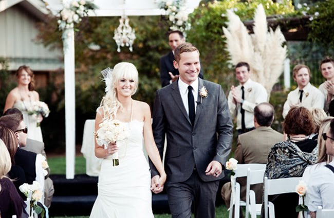 Walking Down The Aisle, Vintage Backyard Wedding San Diego