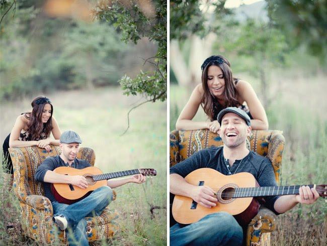 guitar engagement photos